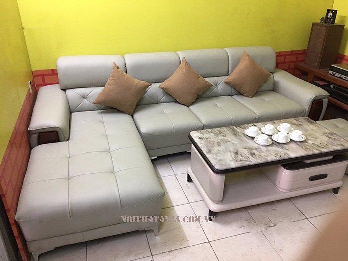 Hình ảnh ghế sofa da phòng khách đẹp SF 093