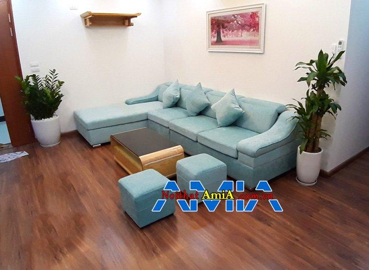 Hình ảnh ghế sofa đẹp góc L SFD097