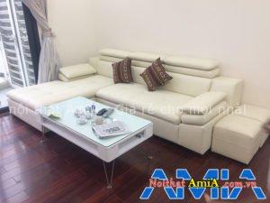 Sofa phòng khách được thiết kế dạng chữ L