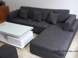 Hình ảnh Ghế sofa nỉ chữ L cho phòng khách đẹp hiện đại