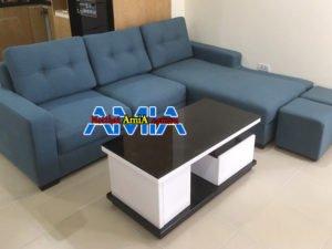 Ghế Sofa nỉ góc chữ L giá rẻ bán tại xưởng AmiA SFN182