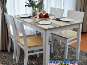 Bộ bàn ghế ăn 4 ghế ngồi BA032 kiểu dáng hiện đại