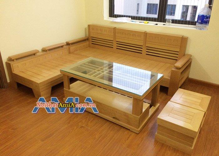 Bộ bàn ghế sofa gỗ đẹp cho phòng khách