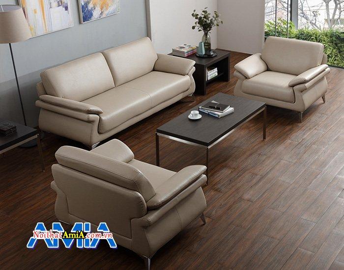 Bộ ghế sofa phòng khách gam màu kem cho vợ chồng trẻ SFD13952