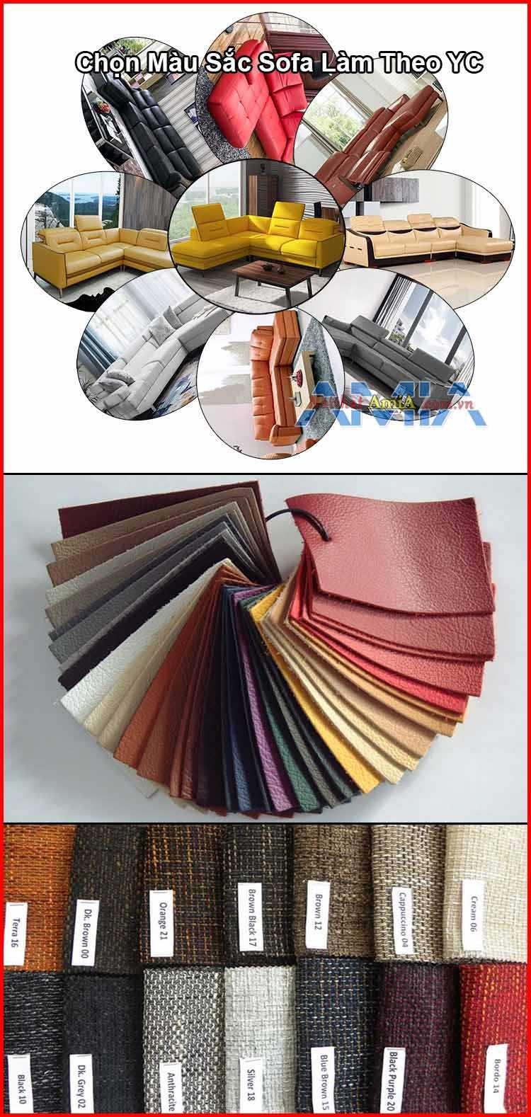 chọn kiểu dáng, màu sắc ghế sofa làm theo yêu cầu riêng