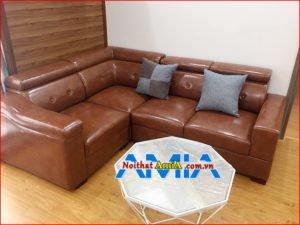 Hình ảnh mẫu ghế sofa da giá rẻ Hà Nội mã SFD041