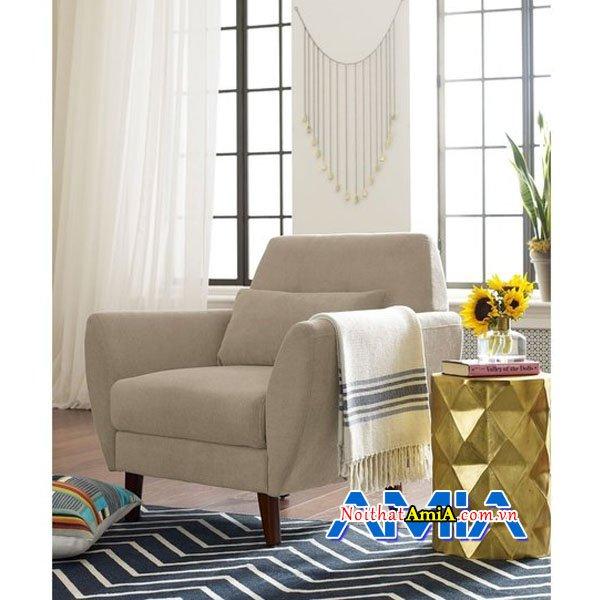Hình ảnh ghế sofa đơn với kiểu dáng chân đế cao hiện đại SFN14019