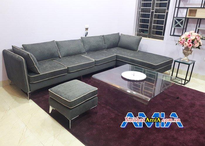 Ghế sofa nỉ đẹp hiện đại cho phòng khách