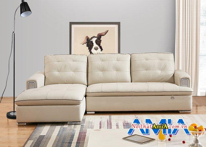 Ghế sofa phòng khách đẹp với màu kem hiện đại SFD13940