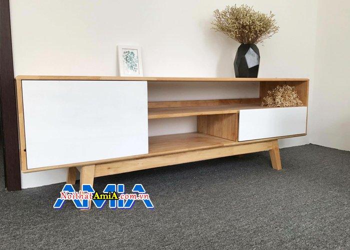 Kệ tivi hiện đại bằng gỗ công nghiệp cho phòng khách KTV14043