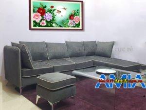 Sofa phòng khách rộng SFN 191 đủ chỗ ngồi cho khoảng 6-7 người ngồi.