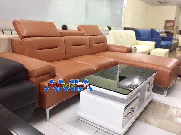 mẫu sofa góc chữ L kê phòng khách SFD 222