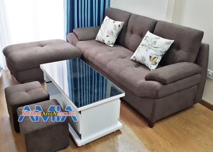 Ghe sofa phong khach nho sfd099 phong cach hien dai