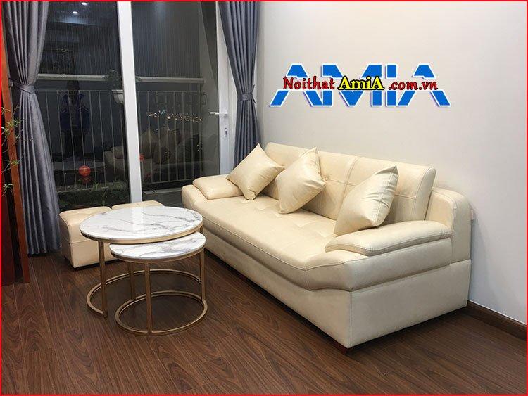 Bàn ghế sofa phòng khách chung cư dạng văng