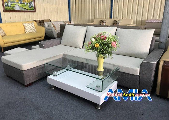 Sự kết hợp hoàn hảo giữa 2 tông màu sáng và tối cho bộ sofa SFN200
