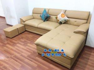 Hình ảnh Ghế sofa chữ L đẹp hiện đại phòng khách bài trí sát tường 152