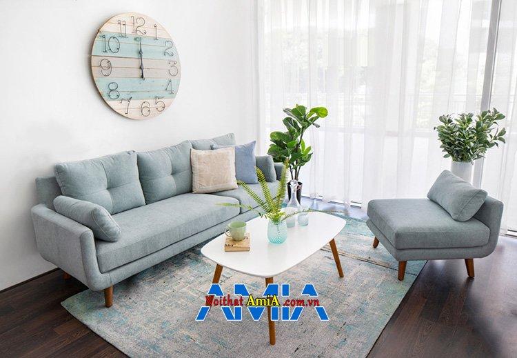 Hình ảnh Ghế sofa nhỏ gọn giá rẻ Hà Nội chất liệu nỉ cho phòng khách hiện đại