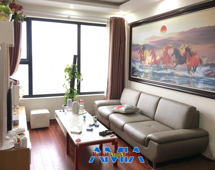Hình ảnh Ghế sofa văng da đẹp cho phòng khách hiện đại nhà chung cư