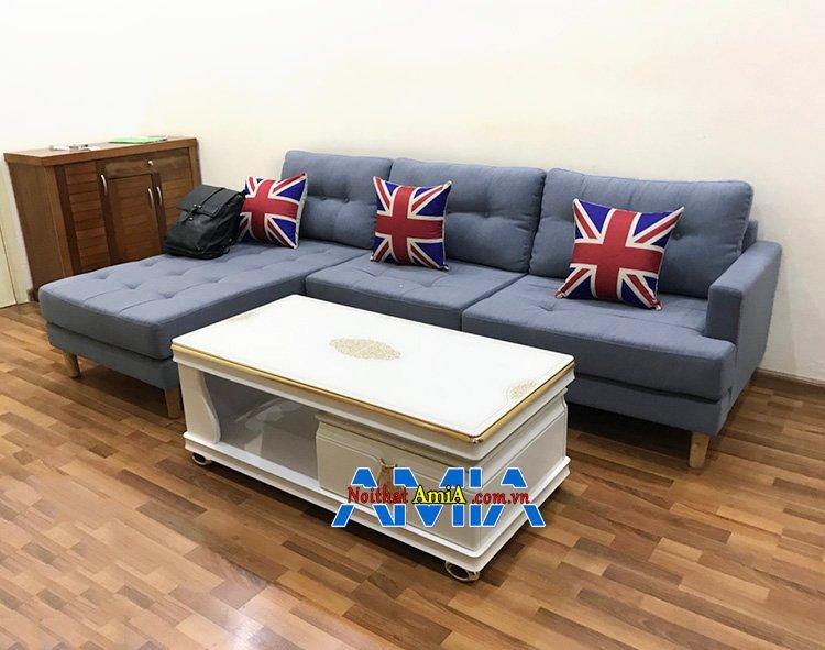 Hình ảnh Sofa góc nhỏ gọn hình chữ L phòng khách đẹp