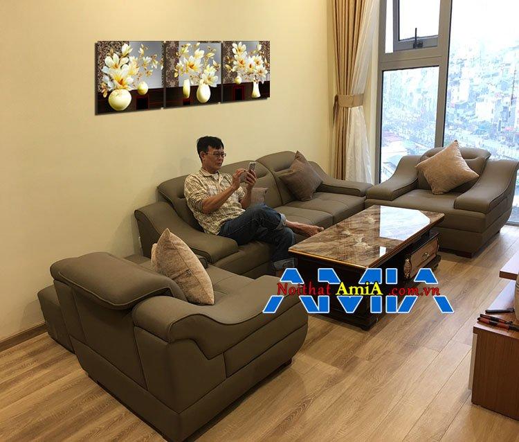 Mẫu bàn ghế sofa chung cư cao tầng đẹp