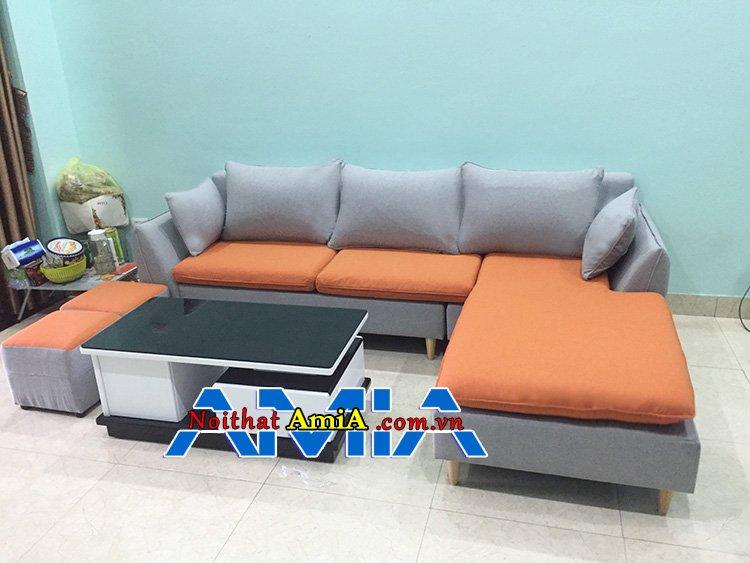 bán ghế sofa nỉ cho phòng khách đẹp SFN 226