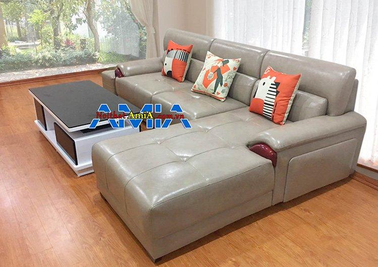 Hình ảnh bộ sofa góc chữ L đẹp SFD224