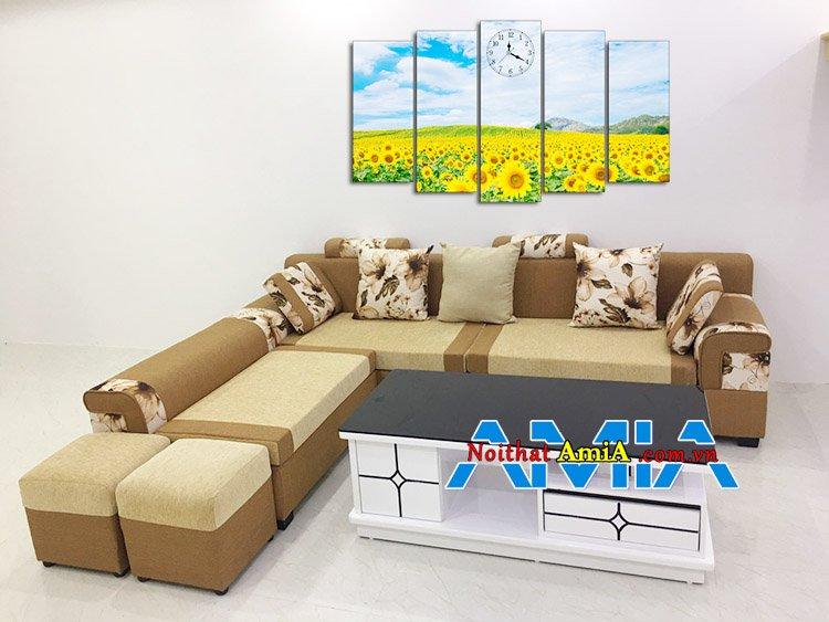 Bộ sofa nỉ góc L hiện đại giá rẻ 7 triệu phổ thông nhất