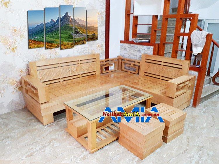 Địa chỉ mua bàn ghế sofa gỗ giá rẻ Hà Nội