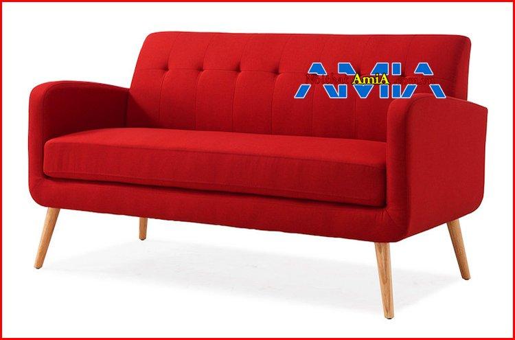 Mẫu ghế nỉ quán Cafe màu đỏ đẹp