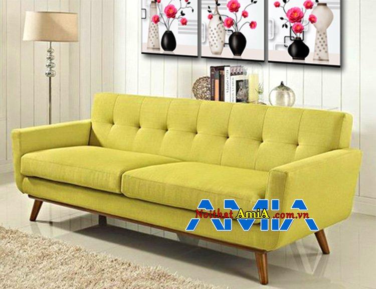 Mẫu ghế sofa bọc nỉ đẹp AmiA SFN095 gam màu cốm