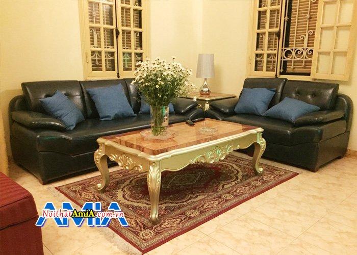 Ghế sofa da cao cấp cho phòng khách giám đốc sang trọng đẳng cấp SFD099c