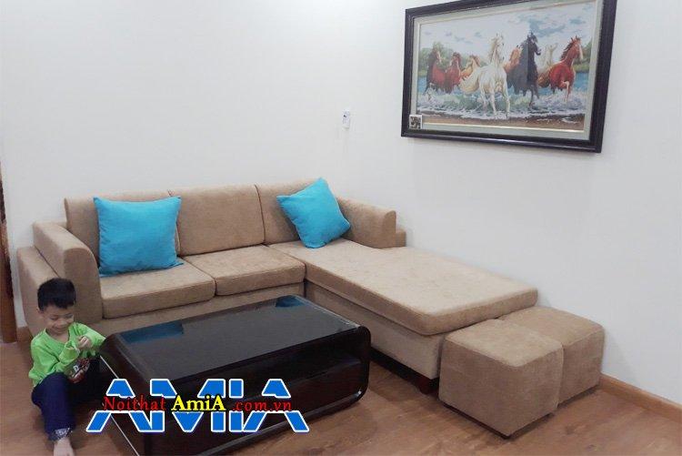 Ghế sofa dùng cho nhà phố phong cách thanh nhã, giản dị