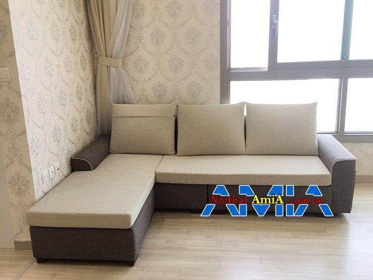 Mẫu ghế sofa góc nỉ đẹp Hà Nội bán chạy tại AmiA