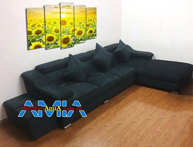 Ghế sofa nỉ L đẹp hiện đại kích thước lớn cho phòng khách SFN206
