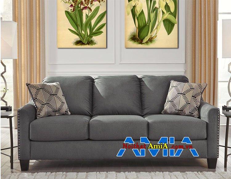 Mẫu ghế sofa vải nỉ đẹp 3 chỗ ngồi rộng rãi thoải mái