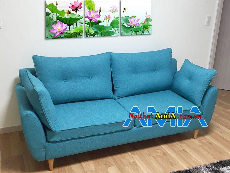 Mẫu ghế sofa văng 2 chỗ đẹp màu xanh Lá