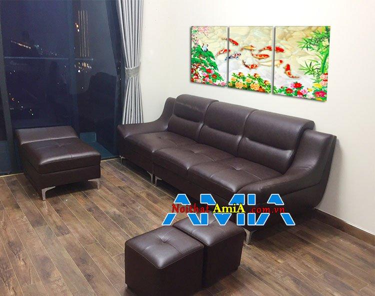 Mẫu ghế sofa văng cho phòng khách chung cư nhỏ
