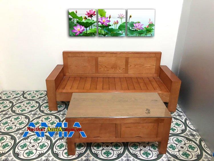 Mẫu ghế sofa văng gỗ đẹp cho văn phòng nhỏ