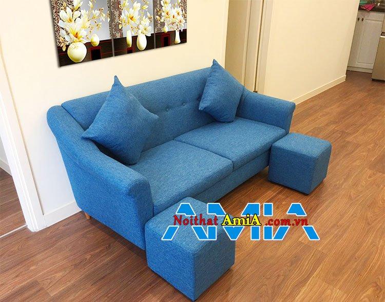 Mẫu ghế sofa văng nỉ đẹp hiện đại 2 chỗ ngồi