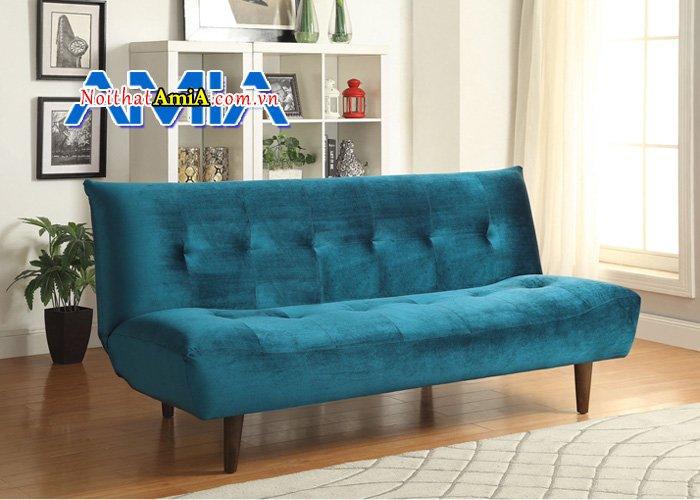 Hình ảnh ghế sofa văng nỉ không có tay tựa hiện đại SFN14051
