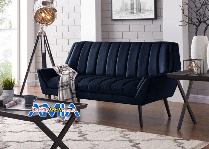 Hình ảnh ghế sofa văng nỉ kiểu dáng hiện đại SFN14053. Bạn có thể kê chúng trong phòng ngủ của mình