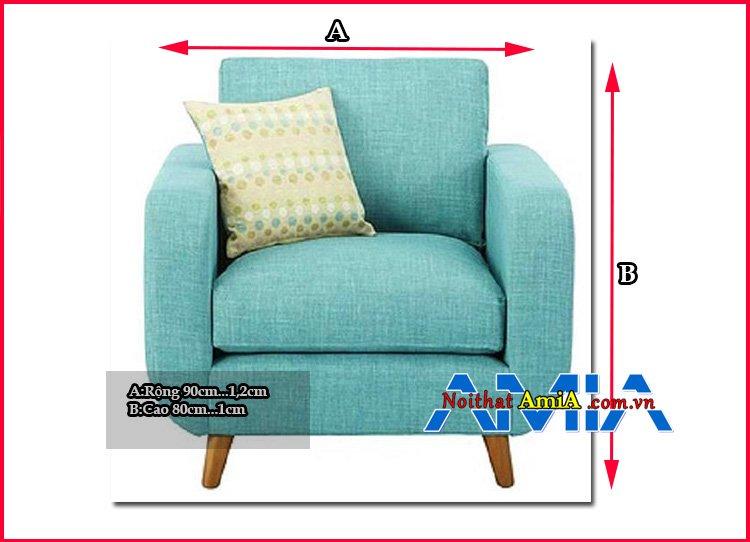Kích thước ghế sofa đơn chuẩn nhất