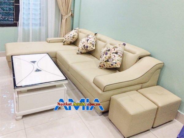 mẫu ghế sofa da đẹp SFD 097