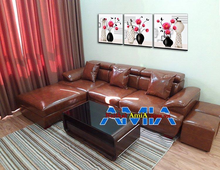 Mẫu ghế sofa góc cho căn hộ chung cư hiện đại