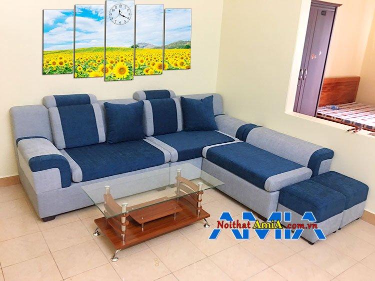 Mẫu ghế sofa nỉ chữ l giá rẻ phong cách trẻ trung lịch lãm