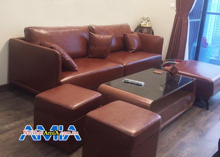 mẫu sofa da cao cấp SFV 188