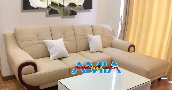 Mẫu sofa phòng khách nỉ đẹp