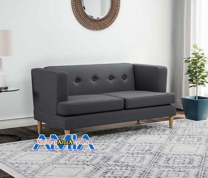 Hình ảnh mẫu sofa văng nỉ 2 chỗ ngồi hiện đại cho vợ chồng SFN14054