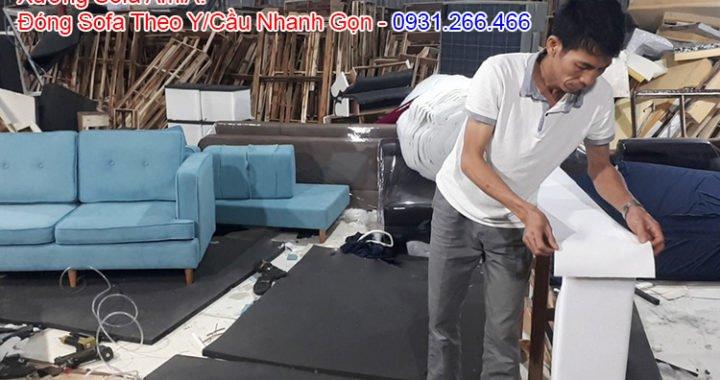 Hình ảnh làm ghế sofa theo yêu cầu tại Hà Nội
