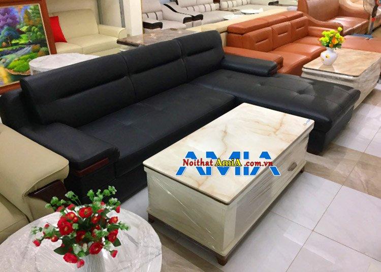 Ảnh chụp ghế sofa da Hà Nội tại địa chỉ bán sofa Nguyễn Xiển